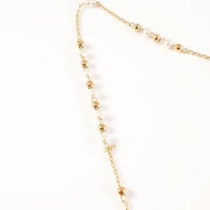 Colier tip rosariu placat cu aur Emergente4