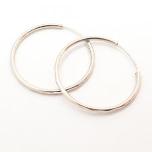 Creole 3.4 cm Silver din argint rodiat2