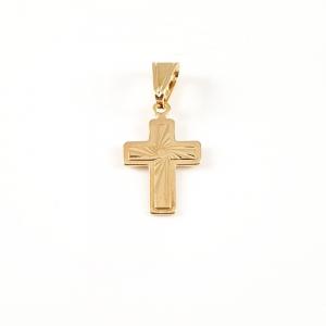 Cruciulita placata cu aur Glow1