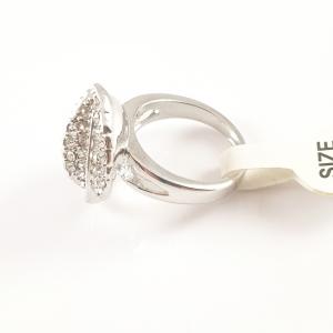Inel placat cu aur alb Livia2