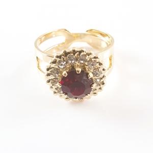 Inel placat cu aur Red Queen5