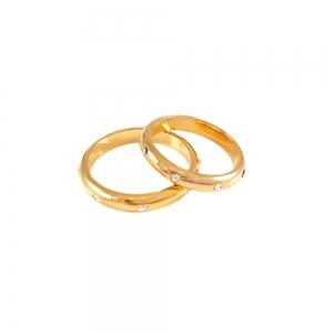 Inel  placat cu aur tip verigheta cu strasuri Rock & Shine
