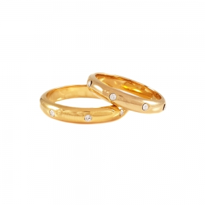 Inel tip verigheta placat cu aur SaraTremo