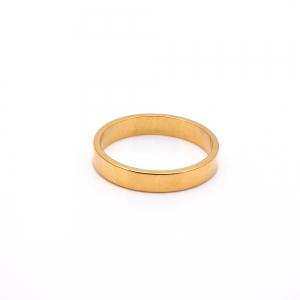 Inel tip verigheta placat cu aur Solid0