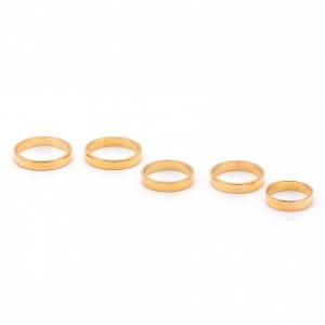 Inel tip verigheta placat cu aur Solid1