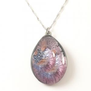 Colier cu sticla de Murano si argint Galaxy0
