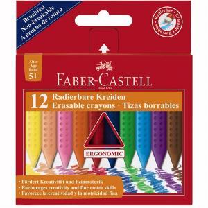 Creioane Colorate Plastic Faber-Castell - 12 culori standard