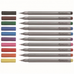 Liner 0.4mm Grip Faber-Castell  - maro inchis