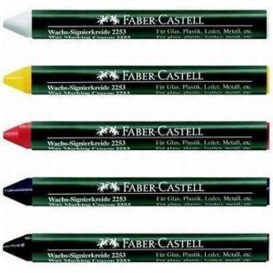 Creion cerat 2253 suprafete lucioase Faber-Castell - alb