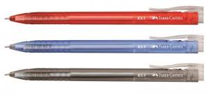 Pix 0,5mm, cu semi-gel si mecanism, RX5 Faber-Castell - rosu
