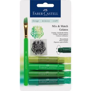 Set 4 Pasteluri Solubile Gelatos Nuante Verde Faber-Castell
