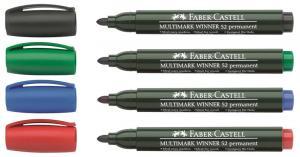 Marker Permanent Varf Rotund Multimark Winner 52 Faber-Castell - albastru