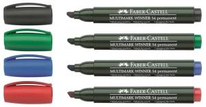 Marker Permanent Varf Tesit Multimark Winner 54 Faber-Castell - verde