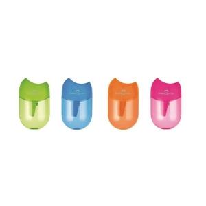 Ascutitoare Plastic Cu Container Apple Pastel Faber-Castell