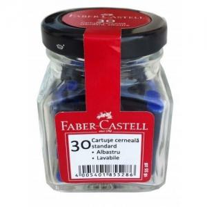Cartuse Cerneala Faber-Castell - Mini, Albastre, 30 Buc/Borcan