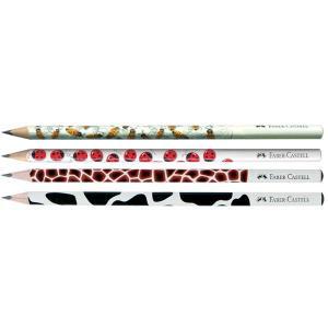 Creion Grafit B Cu Modele Faber-Castell - model buburuza
