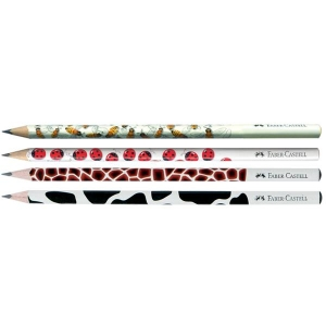 Creion Grafit B Cu Modele Faber-Castell - display 90 buc.