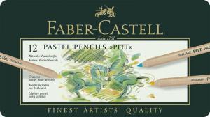 Creioane Pastel Pitt 12 Culori Faber-Castell