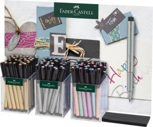 Pitt Artist Pen Metalic 3x30 Buc Display Faber-Castell