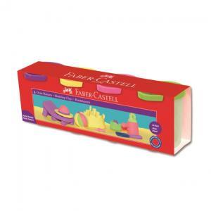 Plastina 4x130g Culori Pastel Faber-Castell