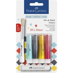 Set 4 Pasteluri Solubile Gelatos Dinner Faber-Castell