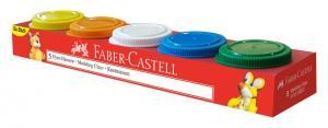 Plastilina 5x45g Faber-Castell