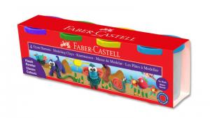 Plastilina 4x130g Culori Clasice Faber-Castell