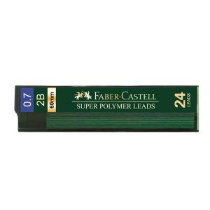 Mina Creion 0.7mm 24 Buc/Etui Super Hi-Polymer Faber-Castell - 2B