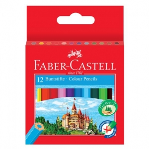 Creioane Colorate  Faber-Castell - 12 Culori Lungime 1/2