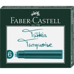 Cartuse Cerneala Mici Turcoaz Faber-Castell - 6 Buc/cutie