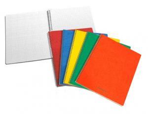 Caiet cu spirala, A5, 60 file - 80g/mp, coperti carton, AURORA Bur-o-Class - matematica