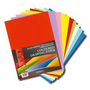 Carton color A4+, 160g/mp - 100 coli/top, AURORA Raphael -  10 culori intense0