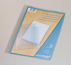 Coperta PP - 120 microni, pentru caiet A4, 3 buc/set, AURORA - transparent cristal2