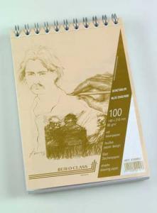 Bloc desen cu spirala, A5, 100 file - 90g/mp, pentru schite creion, AURORA Esquisse2