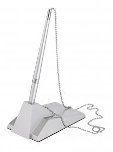 Pix cu suport autoadeziv, cu lantisor metalic, ALCO - argintiu