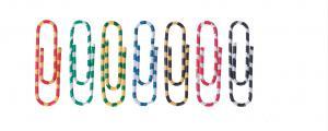 Agrafe colorate 50 mm, 100/cutie, ALCO Zebra - asortate