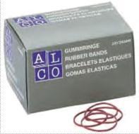 Elastice pentru bani,  250g/cutie, D 85 x 1,5mm, ALCO