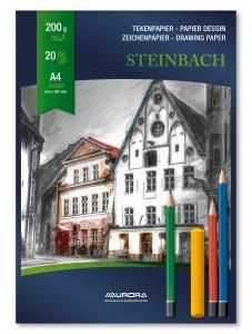Bloc desen A4, 20 file - 200g/mp, AURORA Steinbach1