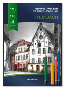 Bloc desen A3, 20 file - 200g/mp, AURORA Steinbach2