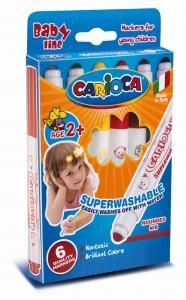 Carioca super lavabila,  6 culori/cutie, CARIOCA Super Baby