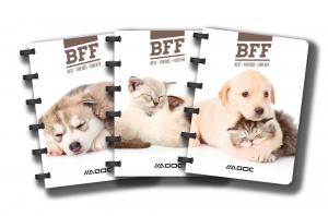 Caiet A6, 72 file - 90g/mp, coperta PP imagini animale, AURORA Adoc Pet collection - dictando