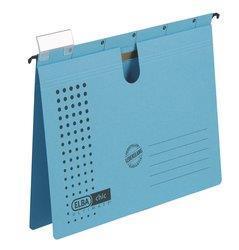 Dosar suspendabil cu sina, carton 230g/mp, bagheta metalica, ELBA Chic - albastru