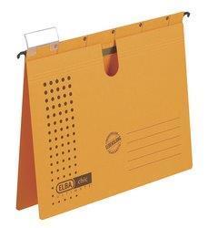 Dosar suspendabil cu sina, carton 230g/mp, bagheta metalica, ELBA Chic - galben