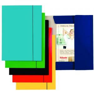Mapa ESSELTE Economy din carton cu elastic - albastru deschis