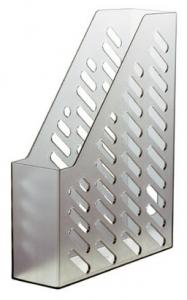 Suport vertical plastic pentru cataloage HAN Klassik - transparent gri