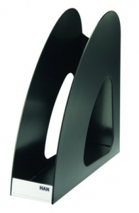 Suport vertical plastic pentru cataloage HAN Twin - negru