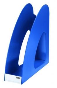 Suport vertical plastic pentru cataloage HAN Twin - albastru
