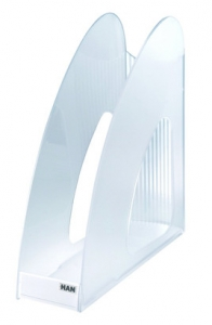 Suport vertical plastic pentru cataloage HAN Twin - transparent cristal