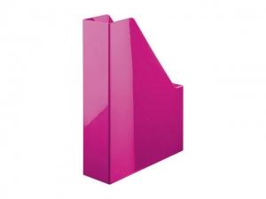 Suport vertical plastic pentru cataloage HAN iLine - roz metalizat