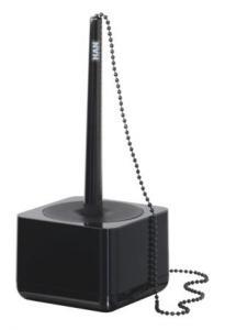 Pix cu lantisor si suport pentru birou HAN iLine - negru lucios